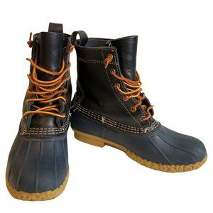 L.L. Bean Boots Blue Duck leather rubber USA